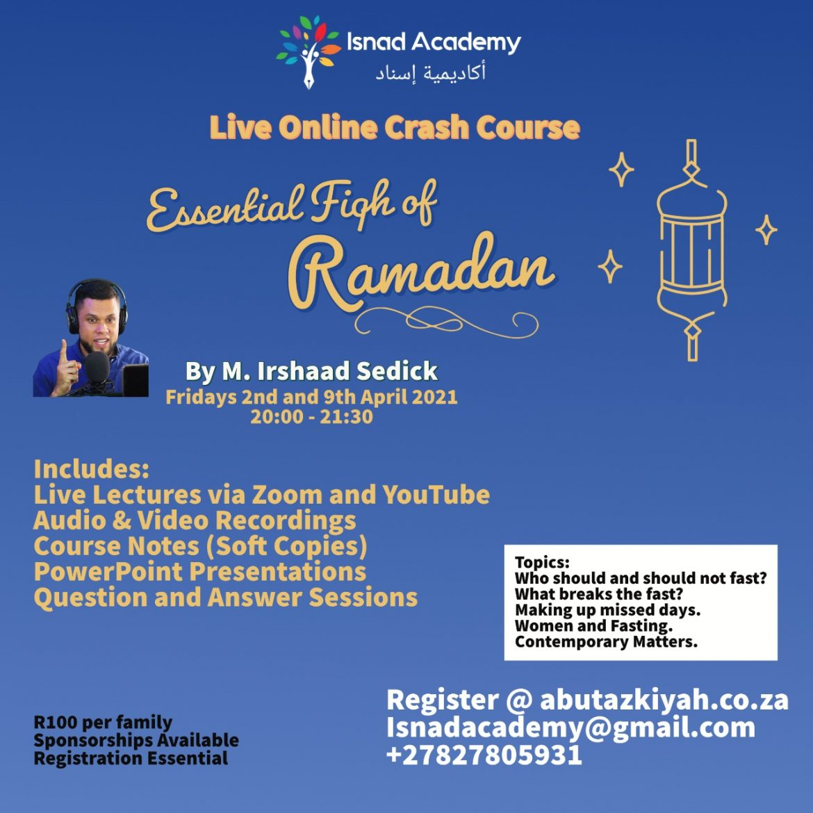Essential Fiqh of Ramadan Crash Course by the Isnad Academy
